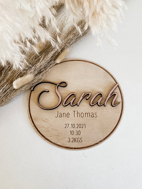 Personalized Wooden Disc | Signature
