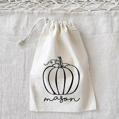 Personalized Pumpkin Sack