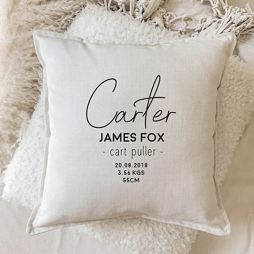 Cushion | Signature Name with Birth Details