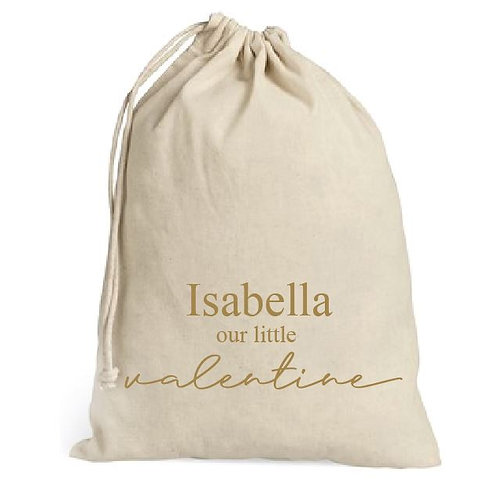 Personalized valentine sack