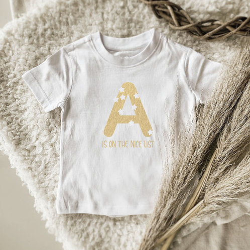 (A) Is On The Good List Onesie | Tshirt