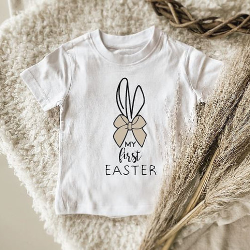 My First Easter Bow Onesie   Tshirt