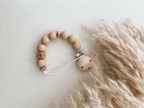 Personalized Pacifier Clip | Nude