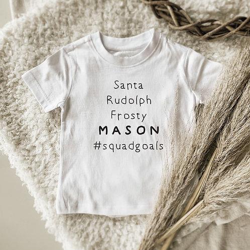 #Squadgoals  Personalized Onesie   Tshirt