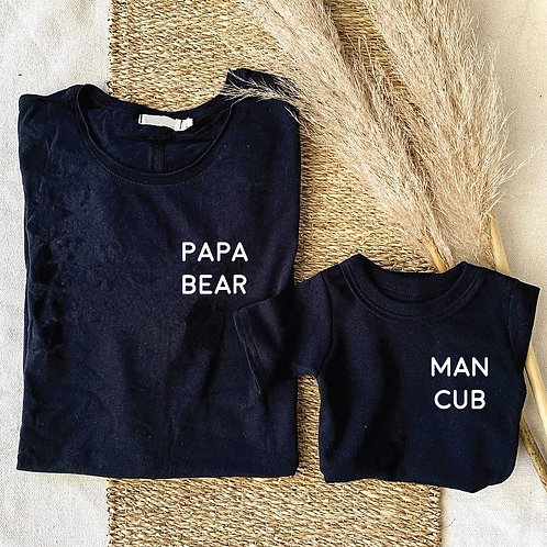 Papa Bear Long Sleeve Tshirt