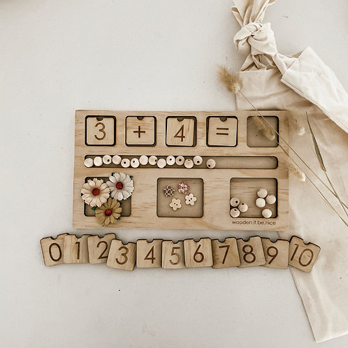 Counting Board - Daisy Theme
