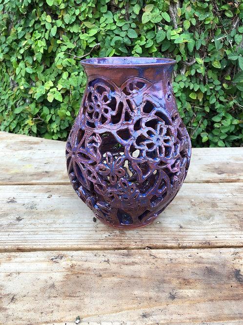 Floral Cutout Vase