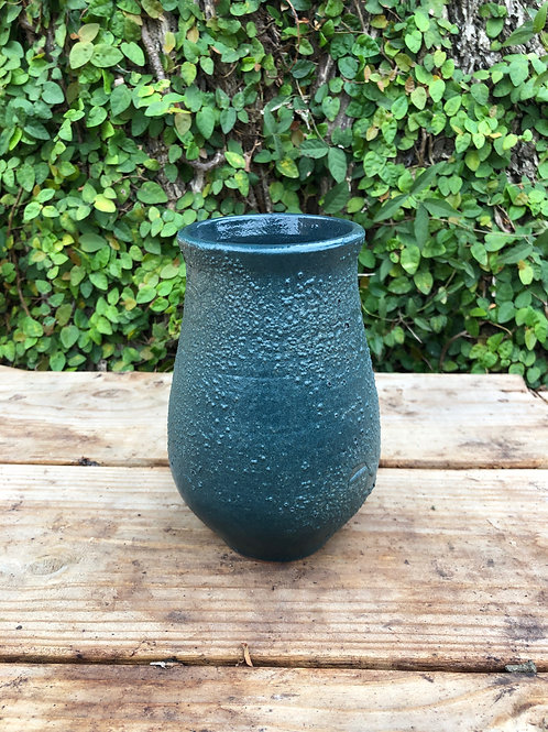 Green Crackled Vase