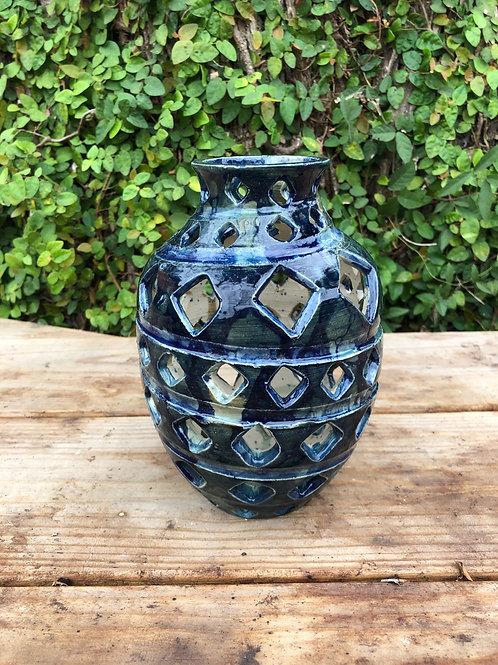 Diamond Cut Out Vase