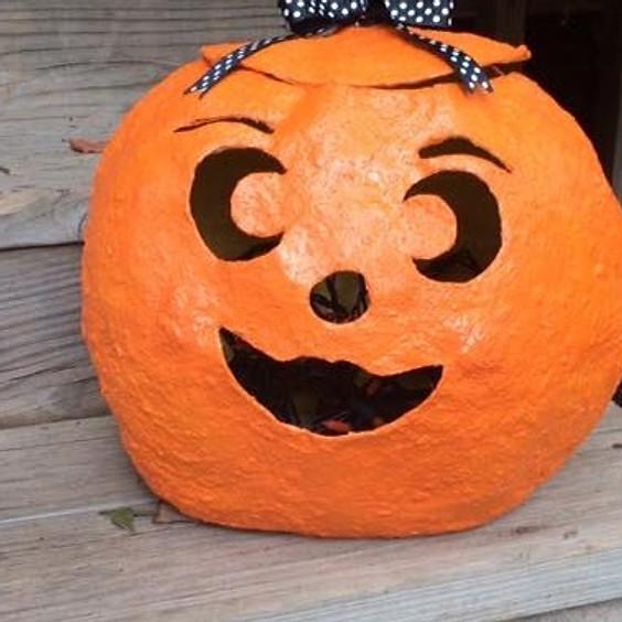 Papier Maché Pumpkin Carving