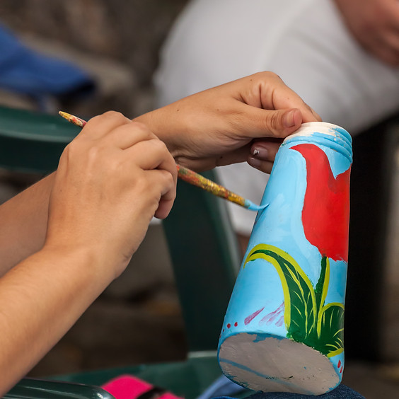 Teen Pottery Glazing Workshop