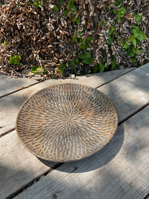 Carved Serving Plate