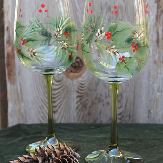 Holiday Wine Glass Painting Party!