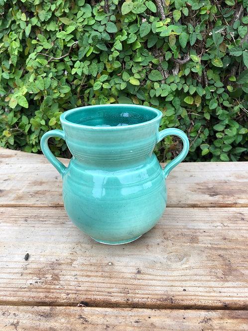 Small Turquoise Urn Vase