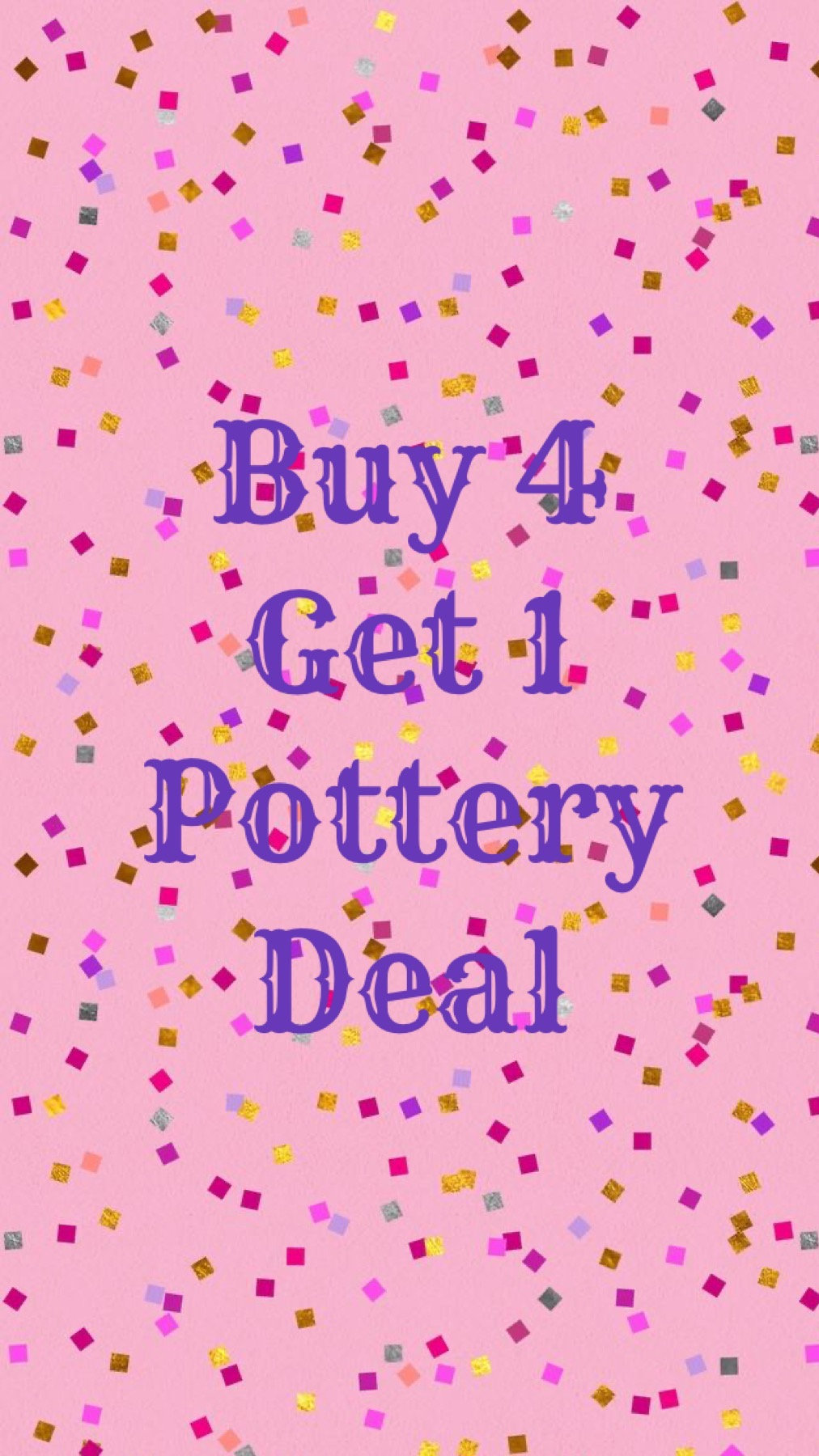 Buy 4 Pottery Wheel lessons, get 1 free!