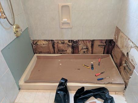 Shower basin- Before