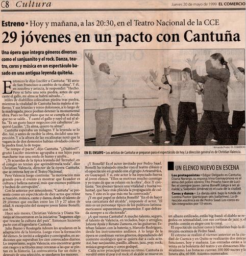Cantuña, el musical - Diario El Comercio