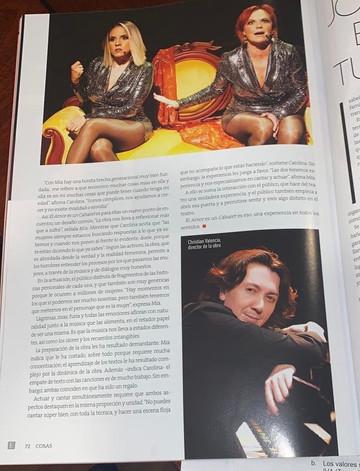 El Amor Es un Cabaret revista Cosas 2