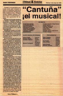 Cantuña, el musical - Diario Ultimas Not