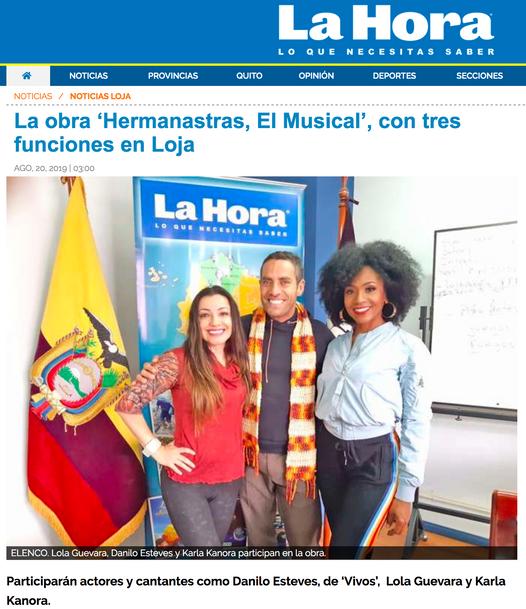 Reportaje de LA HORA a Hermanastras