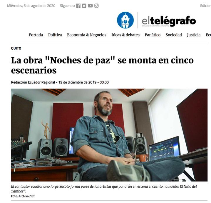 EL TELEGRAFO - El Niño del Tambor