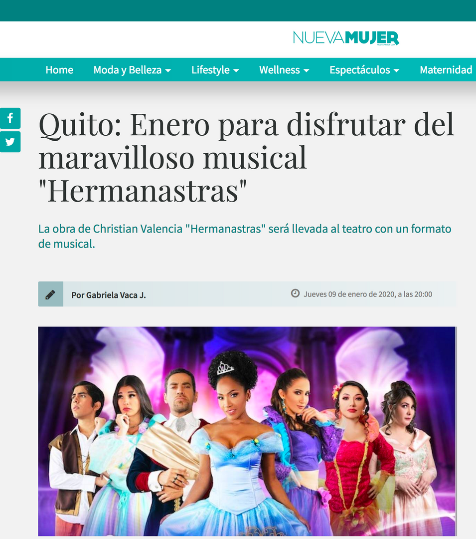 HERMANASTRAS, EL MUSICAL en Nueva Mujer