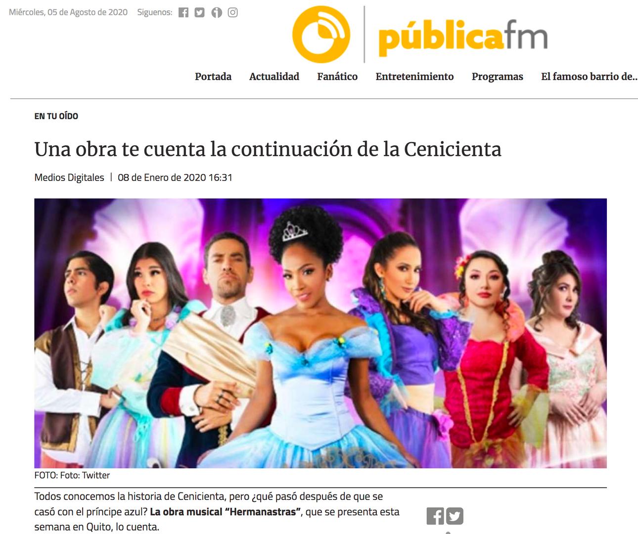 Hermanastras, el musical - Publica FM