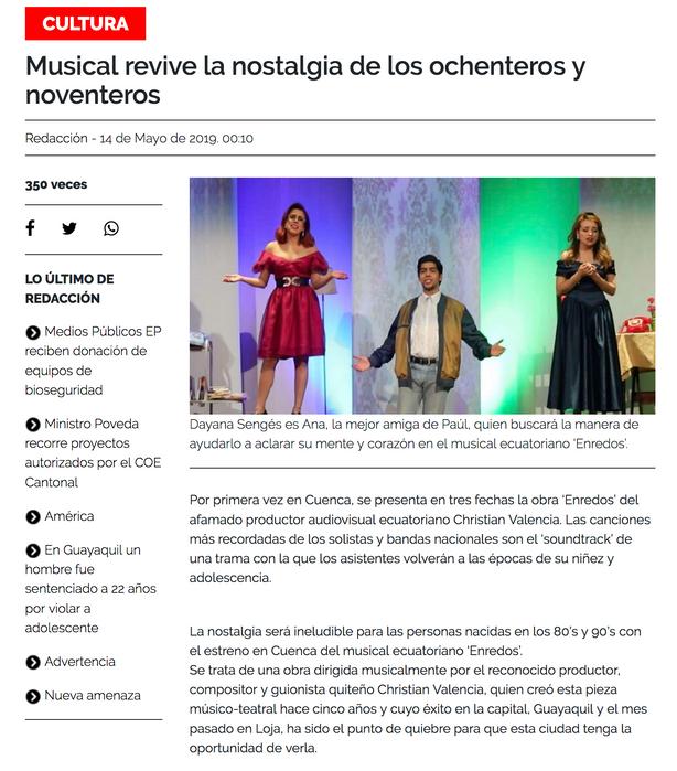 Erendos, Diario el Tiempo