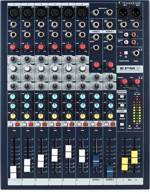SOUNDCRAFT | CONSOLA EPM 6