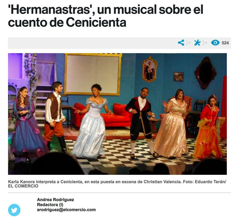 El Comercio, Hermanastras el musical