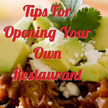 Tips For Opening Own Restaurant