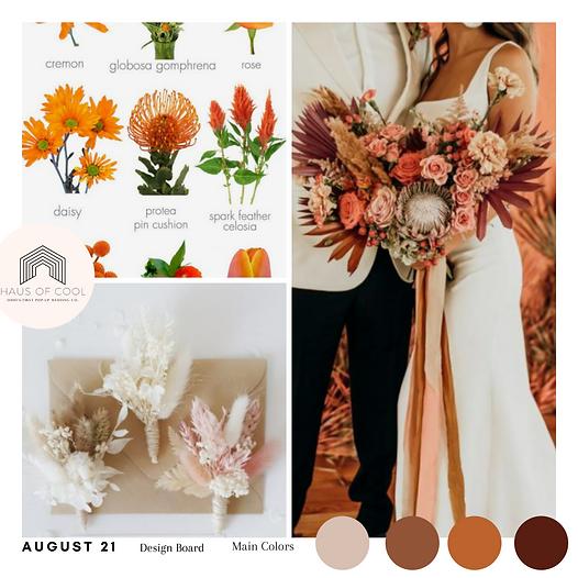 orange wedding inspo