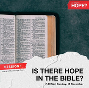 Is There Hope - Session 1