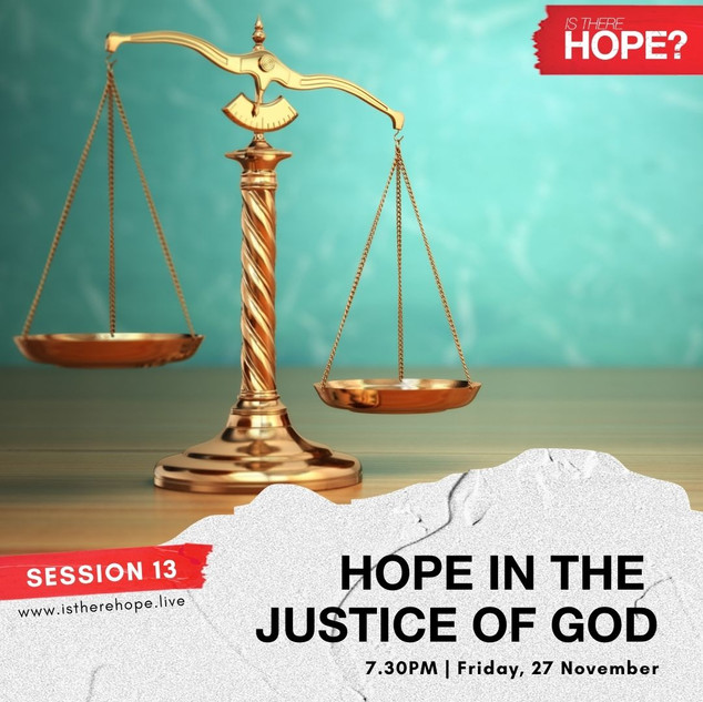 Is There Hope - Session 13