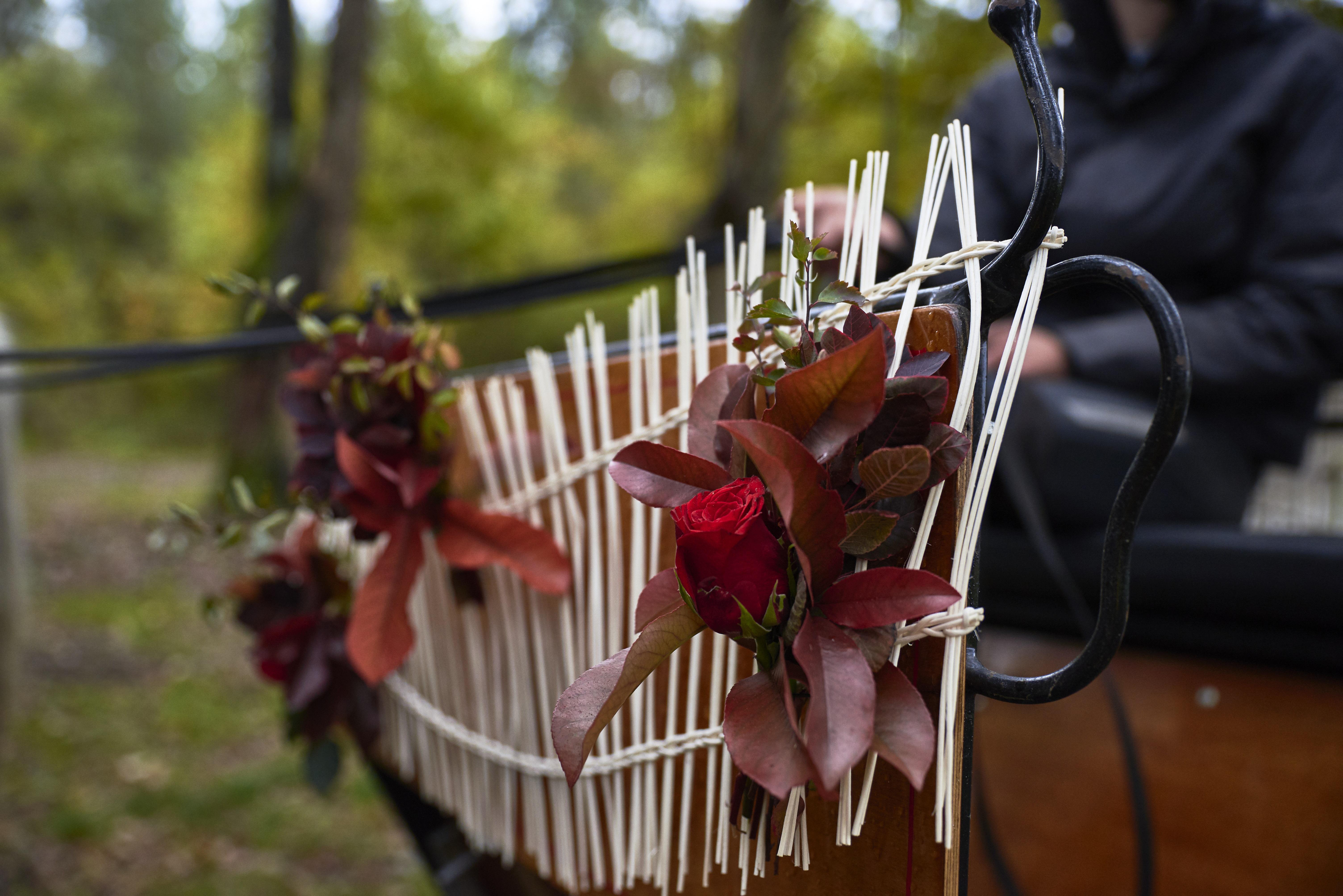 fleur mariage calèche