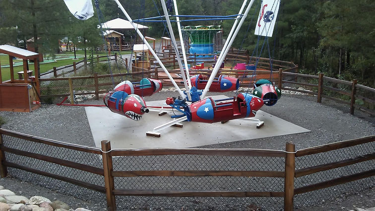 Roll-o-plane at the Wild Frontier Fun Park