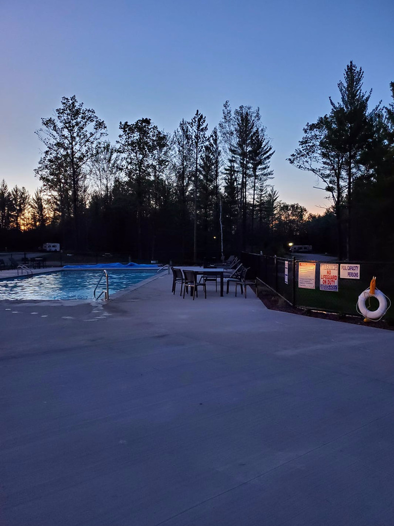 Our Pool at Dusk