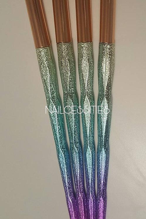 Pastel Glitter Brushes