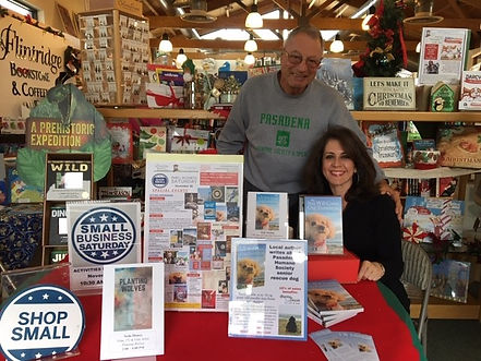 Book signing; Shop Small; Small Business Saturday; Pasadena Humane Society; Flintridge Bookstore & Coffeehouse