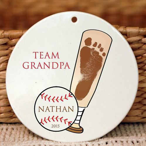 Baseball & Bat Ornament
