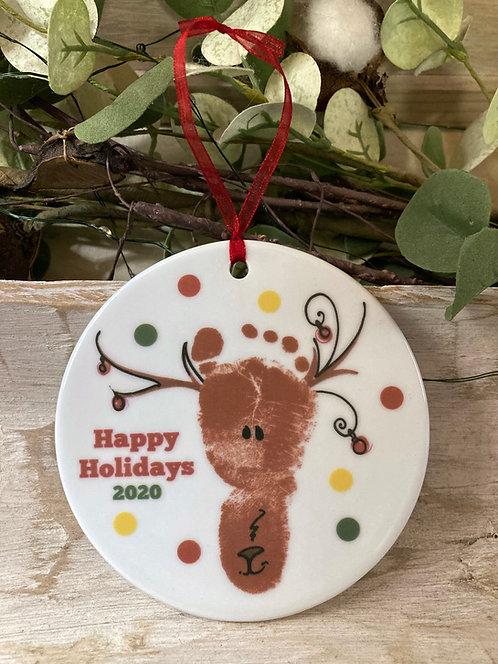 Reindeer Footprint Ornament
