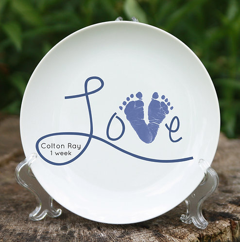 Love Scripty Plate