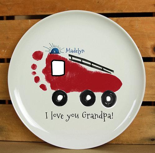 Firetruck Plate