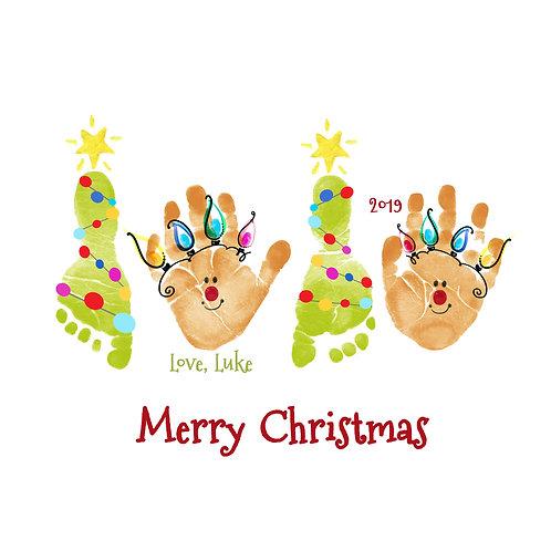 Christmas Tree and Reindeer Wall Art