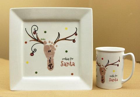 Cookies for Santa Plate& Milk for Santa Mug Set