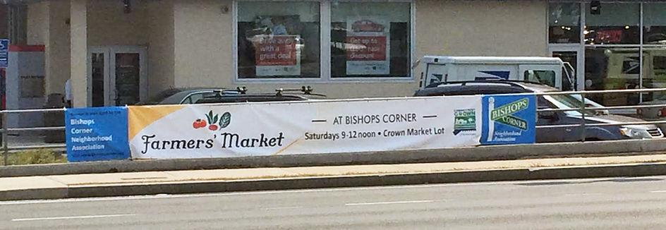 Bishops Corner Promotional Baner