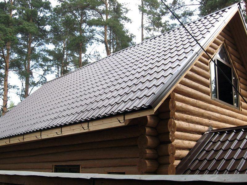 Односкатная крыша 8017