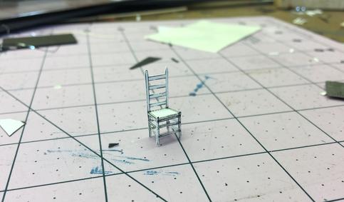 White Model Ladder Back Chair