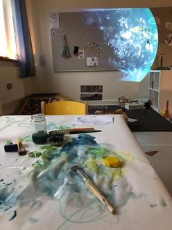 Vi målar Tellus.