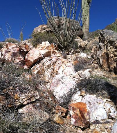 quartz veins gold prospecting mining placer arizona